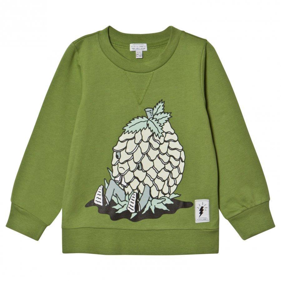 Civiliants Pineapple Print Sweater Green Oloasun Paita