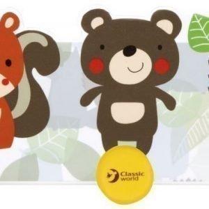 Classic World Naulakko kolmella ripustuskoukulla Metsän eläimet