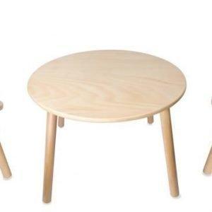 Classic World Pöytä Karhu + Tuoli 2kpl Karhu Paketti