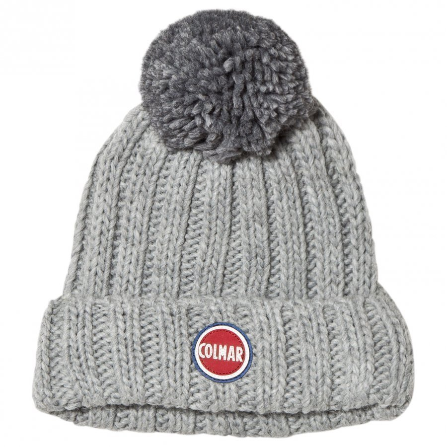Colmar Grey Melange Branded Bobble Hat Pipo