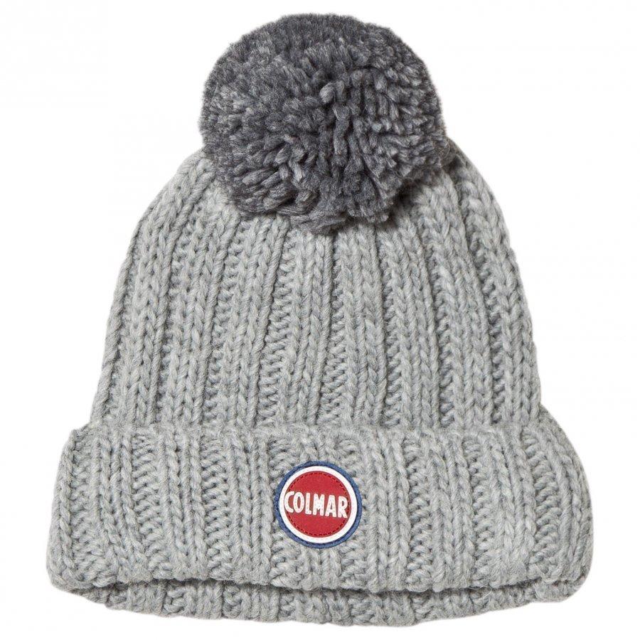 Colmar Grey Melange Branded Bobble Hat Pipo