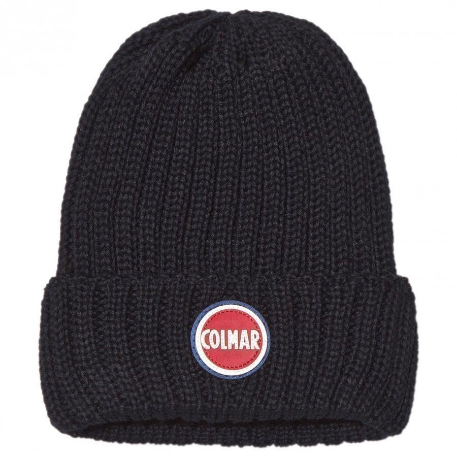 Colmar Navy Branded Beanie Hat Pipo