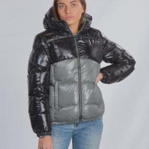 Colmar Ultra Glossy Colourblock Down Jacket Takki Musta
