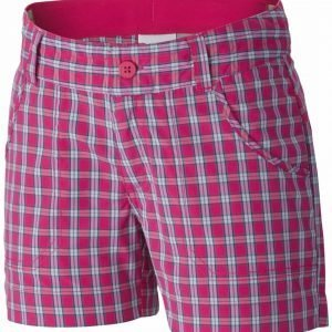 Columbia Silver Ridge Iii Girls Plaid Short Shortsit Pink
