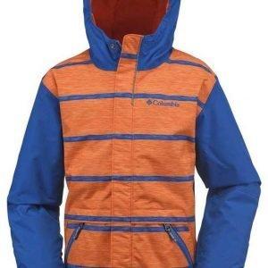Columbia Slopestar Jr Jacket Laskettelutakki Sininen / Oranssi