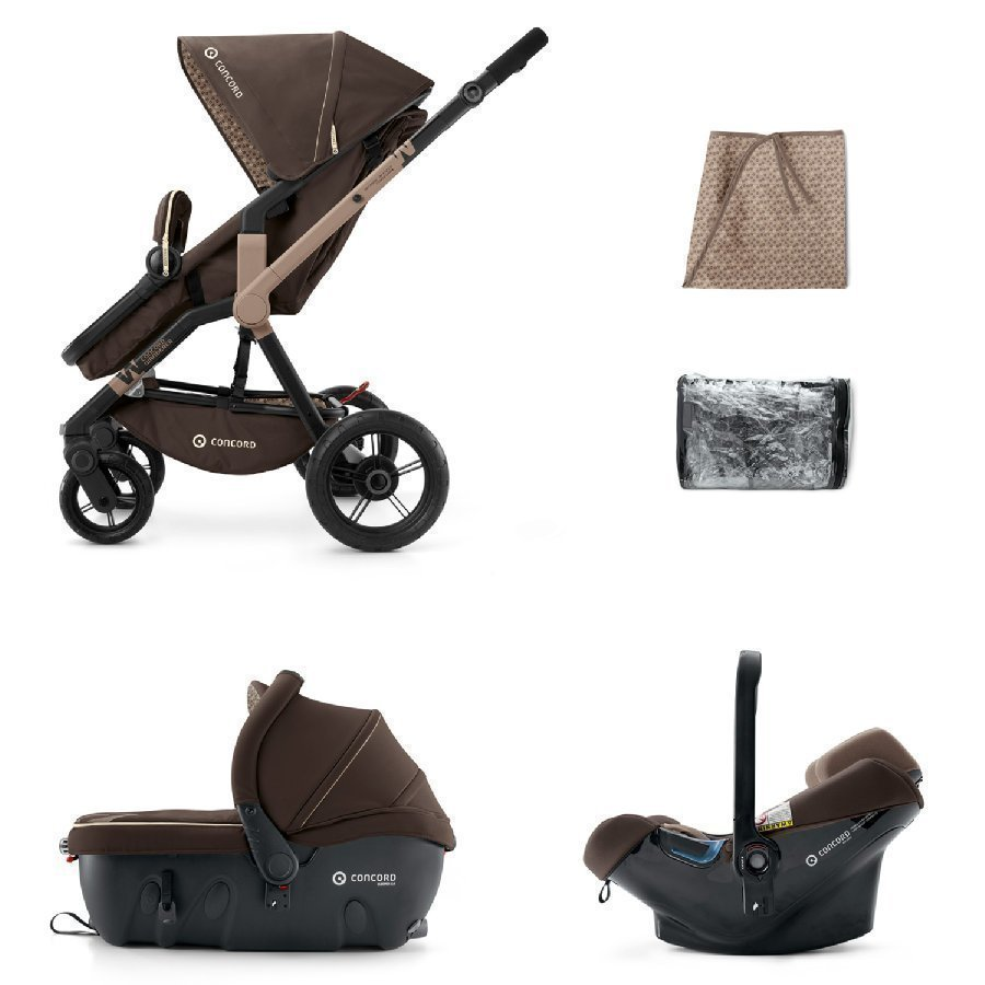 Concord Wanderer Travel Set Chocolate Brown