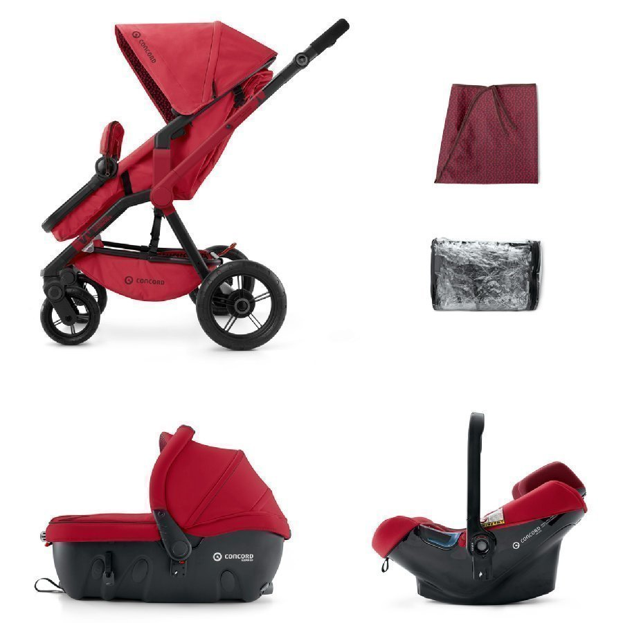 Concord Wanderer Travel Set Ruby Red