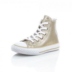 Converse All Star Metallic Kid Korkeavartiset Tennarit Kulta