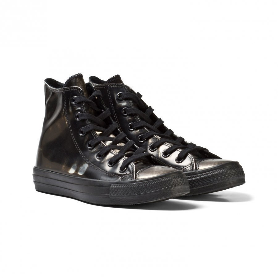 Converse Black Metallic Chuck Taylor All Star Hi Tops Korkeavartiset Kengät