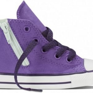 Converse Canvastossut All Star Side Zip High Allium Purple/Mint