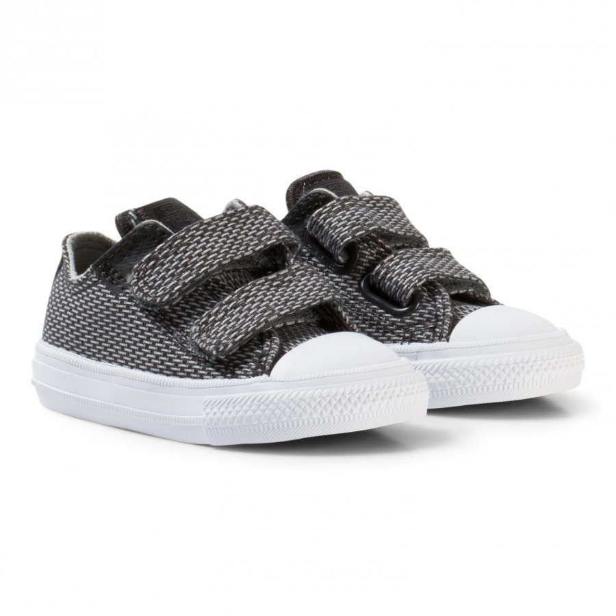 Converse Grey Chuck Taylor All Star Ii Infants Velcro Trainers Lenkkarit