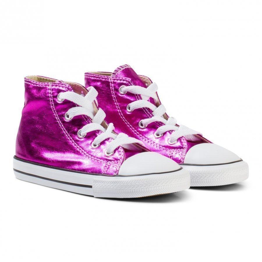 Converse Metallic Pink Chuck Taylor All Star Hi Tops Korkeavartiset Kengät