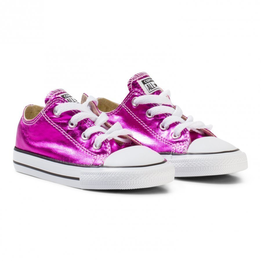 Converse Metallic Pink Chuck Taylor All Star Ox Trainers Lenkkarit
