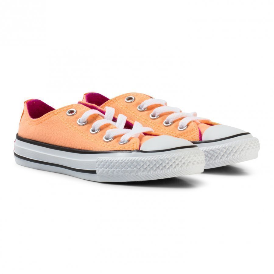 Converse Orange Chuck Taylor All Star Double Tongue Junior Trainers Lenkkarit