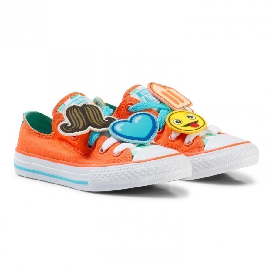 Converse Orange Chuck Taylor All Star Emoji Energy Loophole Trainers Lenkkarit