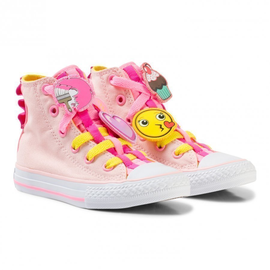 Converse Pink Chuck Taylor All Star Emoji Energy Loophole Hi Tops Lenkkarit