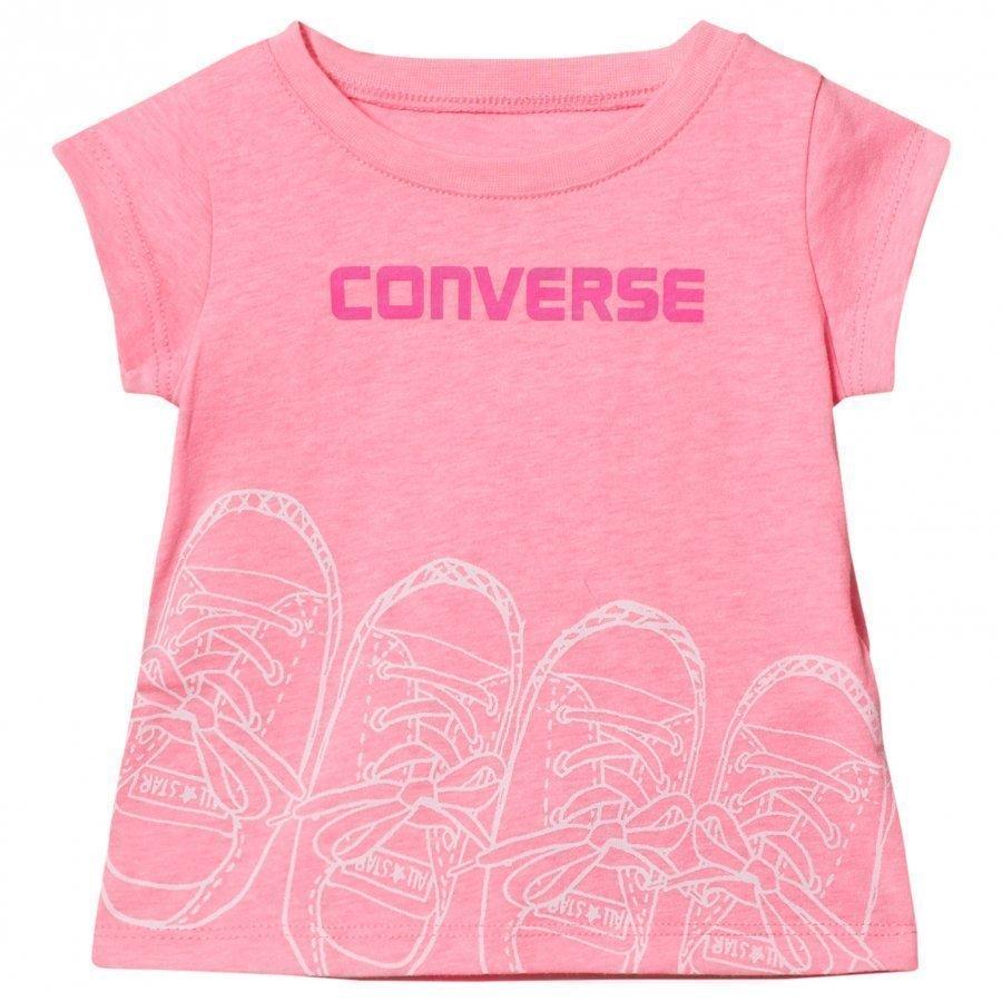 Converse Pink Glow Kicks Graphic Tee T-Paita