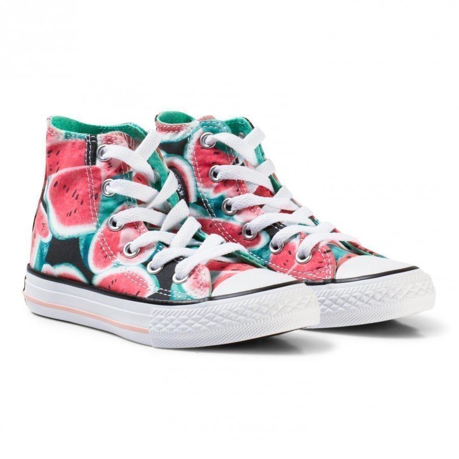 Converse Pink Watermelon Print Chuck Taylor Hi Tops Korkeavartiset Kengät