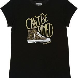 Converse T-paita Can't be tamed Converse Black