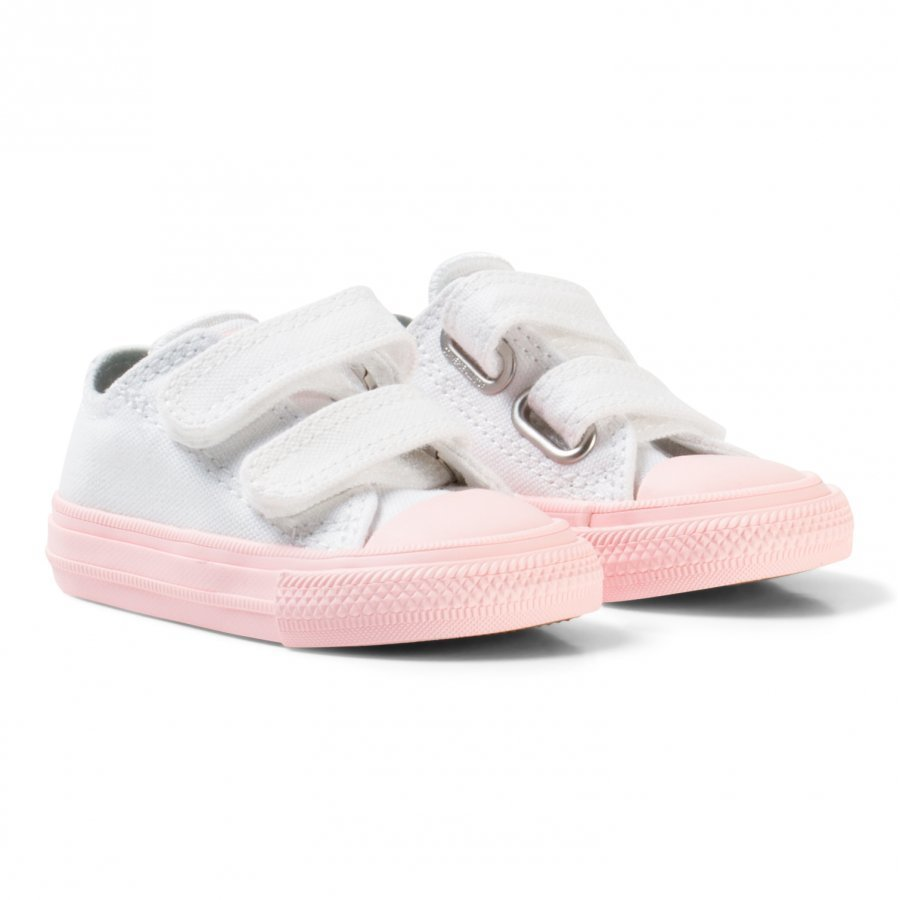 Converse White Chuck Ii All Star Velcro Trainer With Pink Sole Lenkkarit