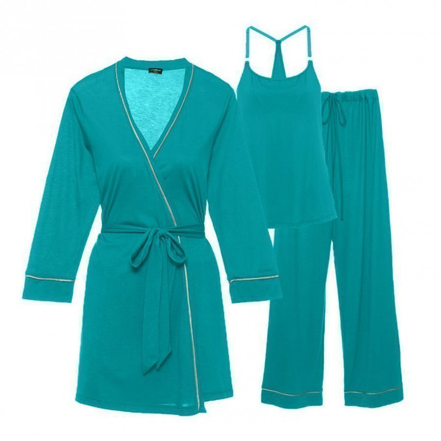 Cosabella Maternity Bella Maternity 3-Piece Pyjama Set Sea Green/Mist Green Raskauden Yöasu