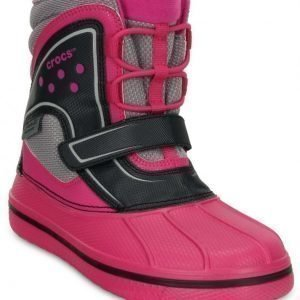 Crocs Allcast Waterproof Boots Candy Pink/Black