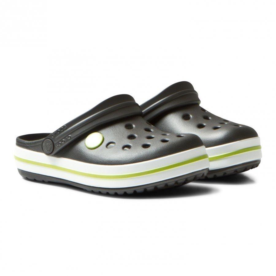Crocs Crocband Clog Graphite/Volt Green Remmisandaalit