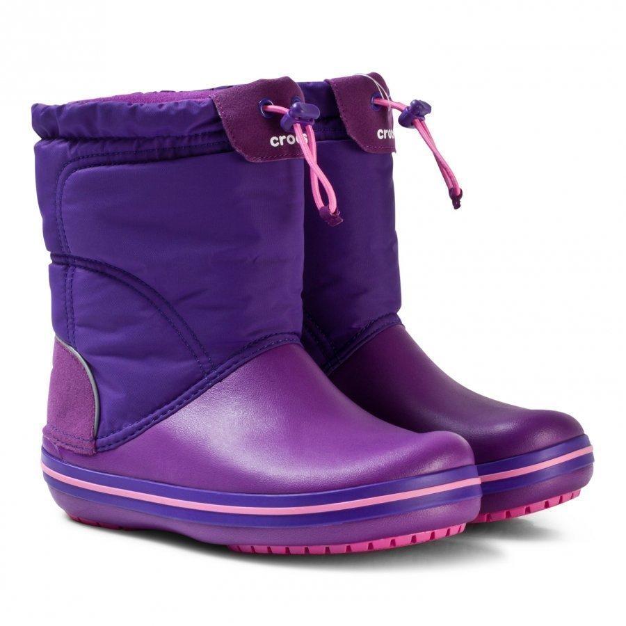 Crocs Crocband Lodgepoint Boot K Amethyst/Ultraviolet Kumisaappaat