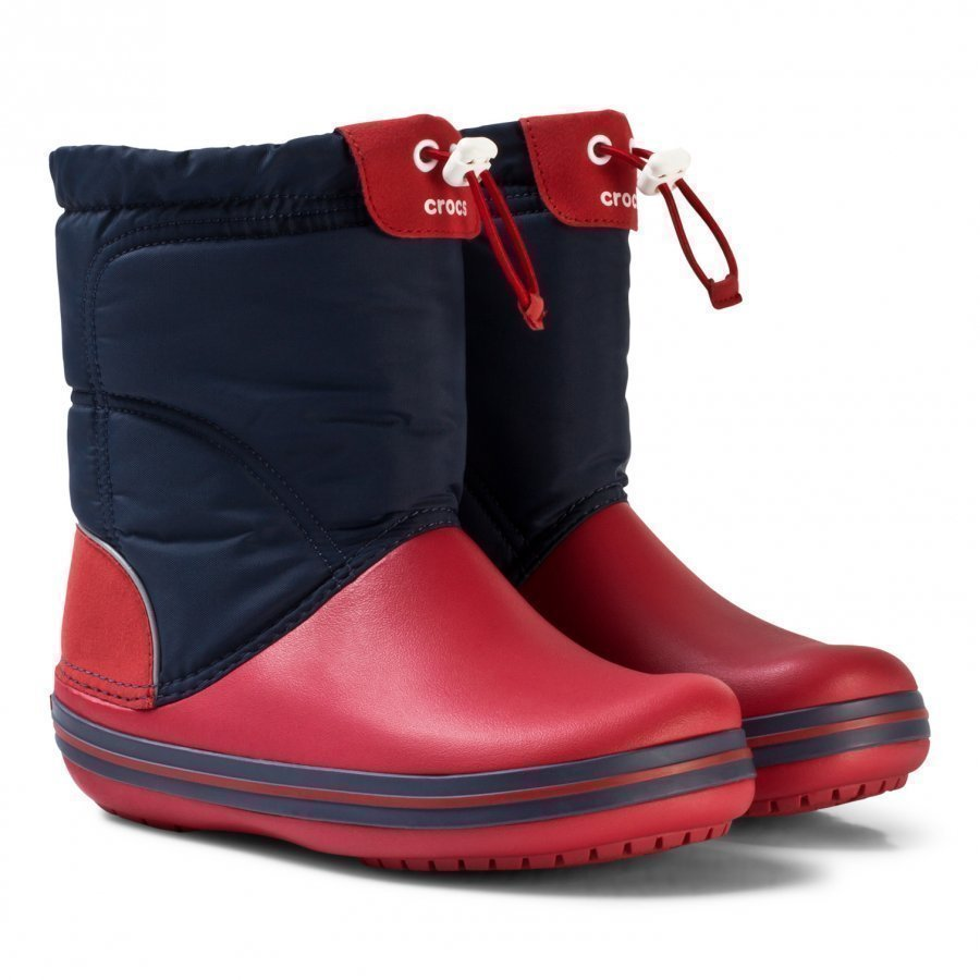 Crocs Crocband Lodgepoint Boot K Navy/Red Kumisaappaat