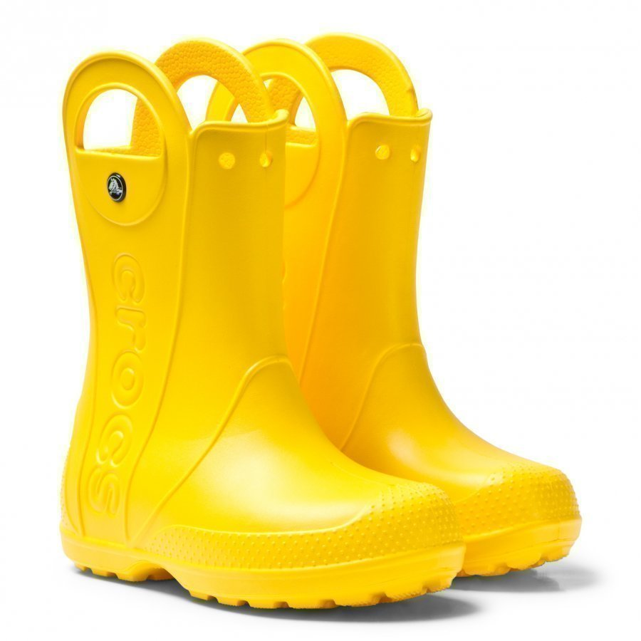 Crocs Handle It Rain Boot Kids Yellow Kumisaappaat