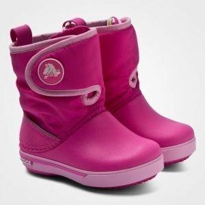 Crocs Kids' Crocband Ii.5 Gust Boot Neon Magenta/Carnation Talvisaappaat