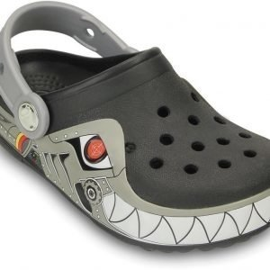 Crocs Pistokkaat Crocband Lights Robo Shark Musta/Hopea