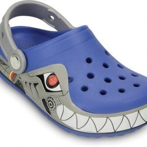 Crocs Pistokkaat Crocband Lights Robo Shark Sea Blue/Silver