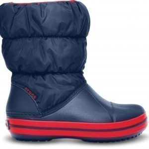 Crocs Saappaat Winter Puff Boot Navy/Red