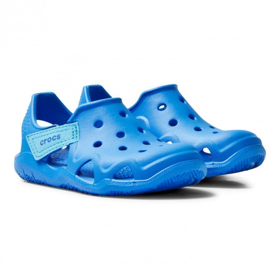 Crocs Solid Blue Swiftwater Wave Shoes Slip On Sandaalit