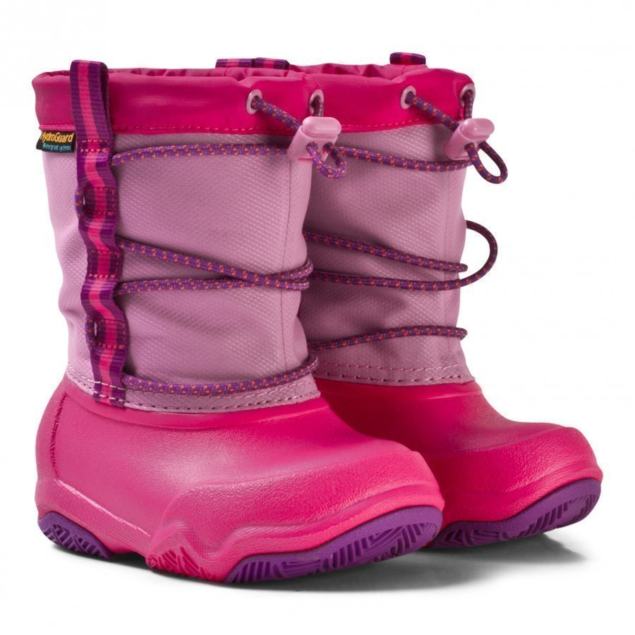 Crocs Swift Water Waterproof Boot K Party Pink/Candy Pink Kumisaappaat