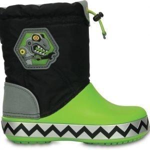 Crocs Talvisaappaat Vilkkuva pohja LodgePoint Robo Sau Black/Volt Green