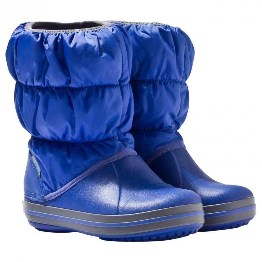 Crocs Winter Puff Boot Kids Cerulean Blue/Light Grey Talvisaappaat