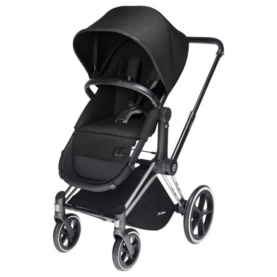 Cybex Priam 2-In-1 Seat Platinum Line Happy Black Yhdistelmävaunut