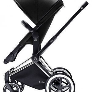 Cybex Priam 2016 2-in-1 vaunut Chrome runko/All Terrain Happy Black Paketti