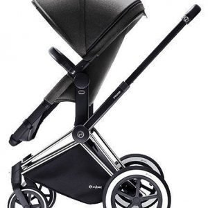 Cybex Priam 2016 2-in-1 vaunut Musta runko/All Terrain Manhattan Grey Paketti