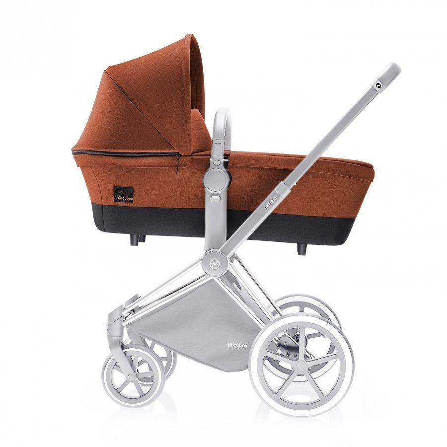 Cybex Priam Carry Cot Platinum Line Autumn Gold Yhdistelmävaunut