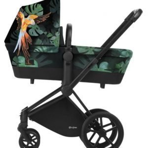 Cybex Priam Lastenvaunut Runko All Terrain Matt Black/Birds of Paradise
