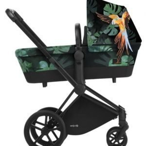 Cybex Priam Lastenvaunut Runko Trekking Matt Black/Birds of Paradise