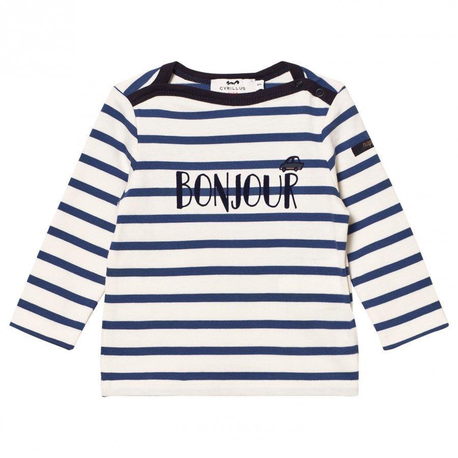 Cyrillus Blue/White Stripe Long Sleeve Tee Pitkähihainen T-Paita