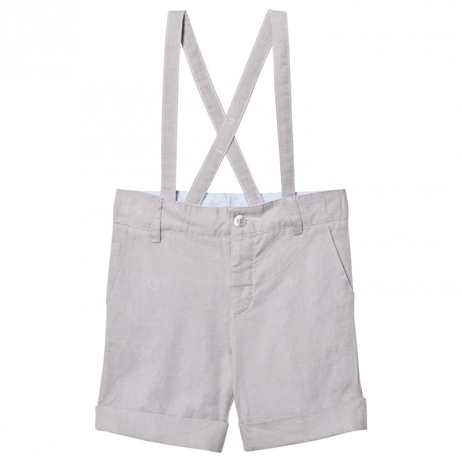 Cyrillus Grey Linen Shorts Juhlashortsit