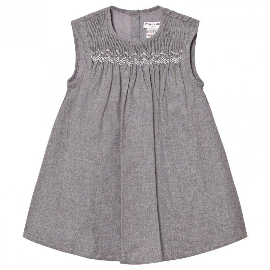 Cyrillus Grey Marl Flannel Dress Mekko