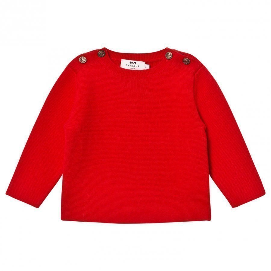 Cyrillus Nautical Sweater Red Paita
