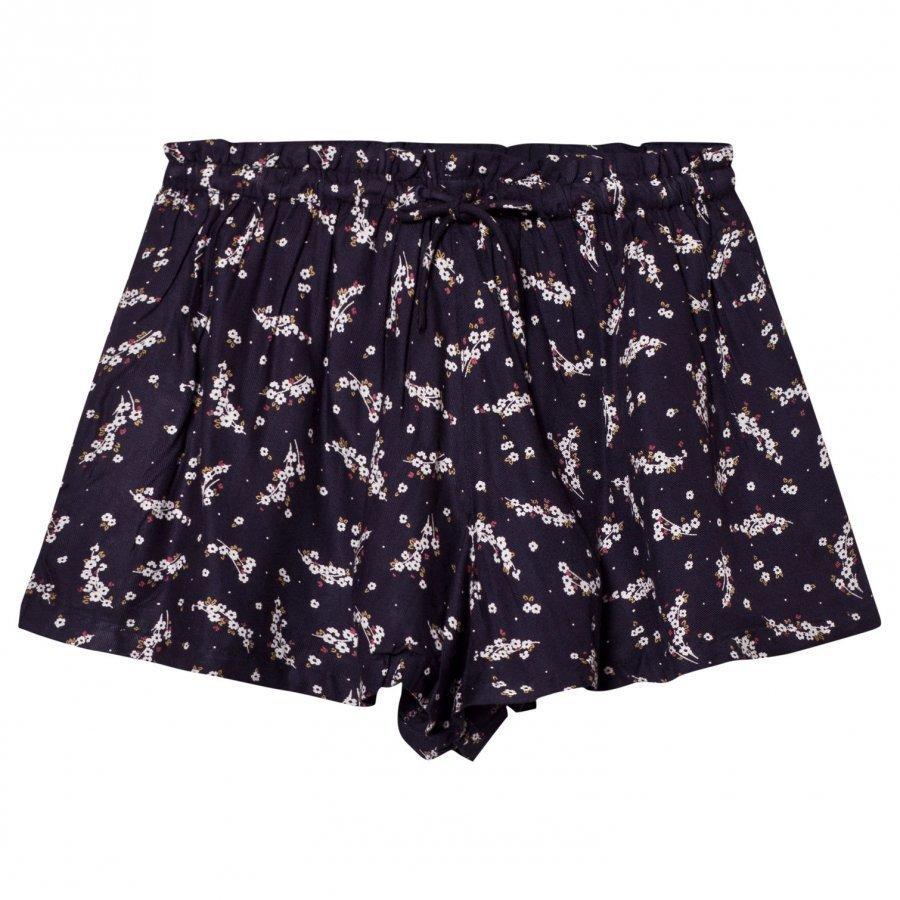 Cyrillus Navy Floral Print Shorts Shortsit