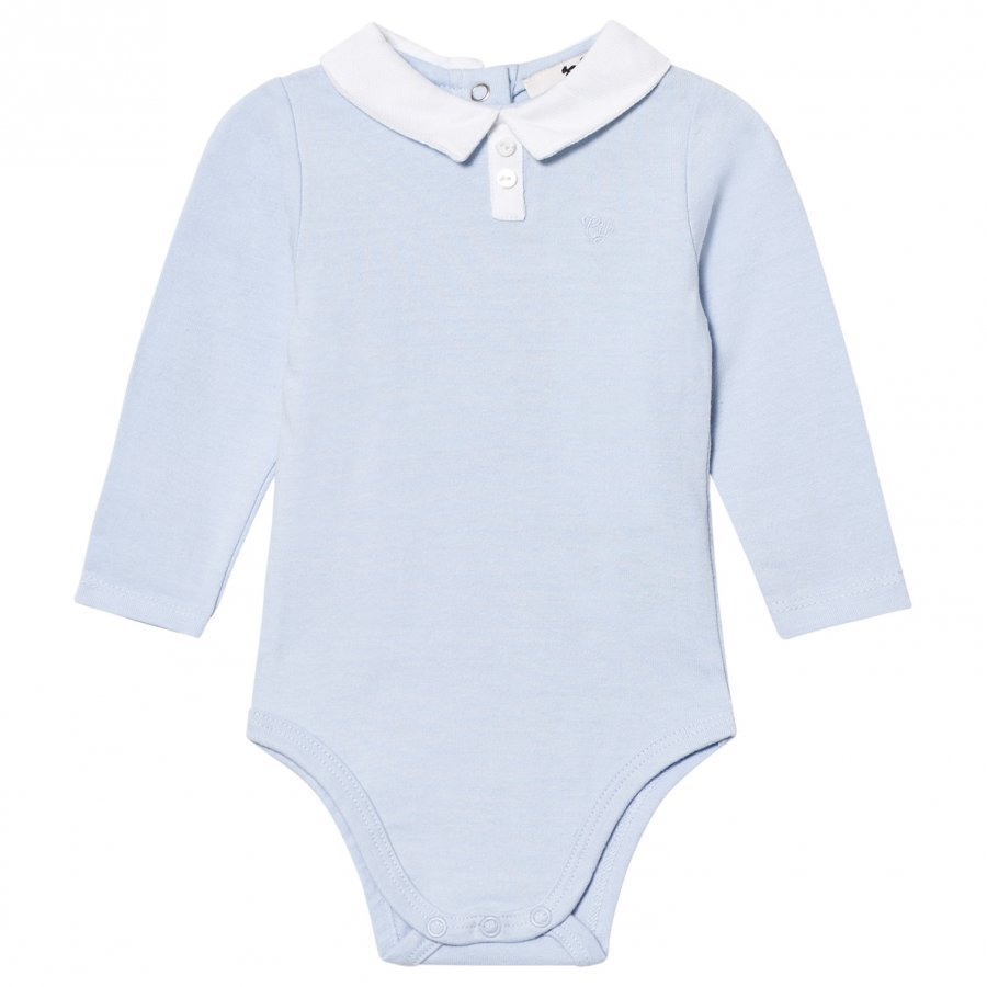 Cyrillus Pale Blue Long Sleeve Baby Body